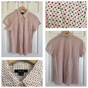 Style & Co cool retro polka dot shirt